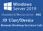 Windows Server 2019 Std/Data | Remore Desktop Service 50 user CAL/ Device CAL