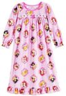 DISNEY PRINCESS Pink Flannel Nightgown Pajamas Sleep Dress Toddlers 2T or 3T 36