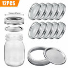 24/12 Split-Type Seal Lids Storage Cap Secure Cover for Regular/Wide Mouth Mason
