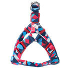 Adjustable Nylon Dog Harness Leash Set Printed Puppy Vest Pet Walking Train.hc