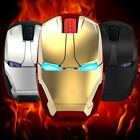 Iron Man Wireless Silent Noiseless Gaming Mouse LED Optical Mouse For PC Laptop