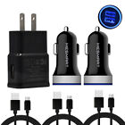 For Samsung Galaxy S10e S20 Note10 Plus 20 A71 A70 Wall Car Charger Type C Cable