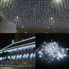 10-100FT LED Fairy Icicle Curtain Fairy Lights Christmas Party Decor Waterproof