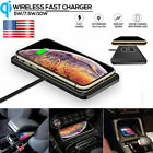 10W Qi Wireless Car Charging Mat Pad Phone Fast Charger Pad For iPhone Samsung