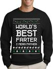 Worlds Best Farter, I Mean Father Ugly Christmas Sweater Style Funny Sweatshirt