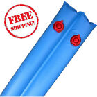 """8"""" Winter Water Tube Bags 8 For In-Ground Swimming Pool Covers Blue Pool Cover"""