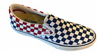 Men's Vans Slip On Pro Primary Red Blue Yellow White All Sizes Checkerboard New