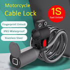 Motorcycle Smart Chain Lock Fingerprint APP Bike Bicycle Security Cable Alarm
