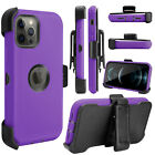 For iPhone 12/Pro Max/Mini 5G Case With Stand Heavy Duty Holster Belt Clip Cover
