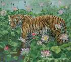 Lotus Position - Tiger Limited Edition Print by Lee Kromschroeder