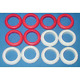 Bumper Pool Table Bumper Post Rings - Set of 12 Standard Size