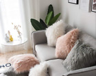 Home Decor Faux Fur Cushion Cover Pillowcase Furry Pillow Cushion Cover Uk