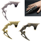 Punk Gothic Rings Rock Scroll Joint Armor Knuckle Metal Full Finger Claw Ring ^
