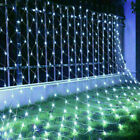 LED String Fairy Net Lights Curtain Mesh Christmas Party Garden Outdoor Indoor K