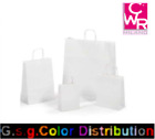Bag Of Paper With Handle White Package 25 Bags Measures IN Variations