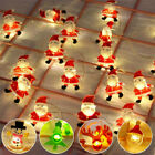 Santa Snowflake Snowman LED String Fairy Lights Christmas Tree Decor Xmas Party