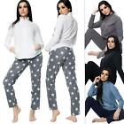 Womens Lounge Wear Set Long Sleeve Top Bottom Activewear Suit Casual Tracksuit