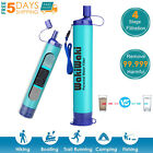 Survival Water Filter Straw Pump Purifier Filtration Camping Hiking Emergency