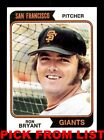 1974 Topps #8-356 EX/EX-MT Pick From List All PICTURED