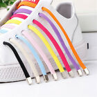 Unisex Stretching No Tie Locking Shoelaces Sneakers Elastic Lazy Flat Shoe Laces