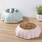 Durable Dog Bowl Pet Feeder Easy To Clean Stainless Steel Detachable Pet Bowl LR