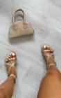 IKRUSH Women's Selina Strappy Buckle Sandals Size in NUDE Size 4