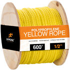 Twisted Polypropylene Rope - Yellow Floating Poly Boat Rope