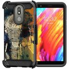 For LG Escape Plus / LG Aristo 4+ Full Armor Belt Clip Holster Case