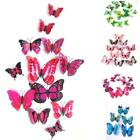 12x 3d Butterfly Wall Sticker Fridge Magnet Decal Home Room Diy Decorations Us