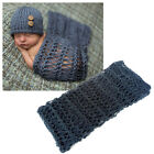 Rugs For Newborn Fluffy With Hat Photography Props Knit Blanket Cute Backdrop