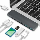 For MacBook Pro USB-C Hub Dual Type-C Multiport Card Reader Adapter 4K HDMI UK