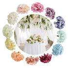 50pcs Easy Apply Artificial Flowers Diy Silk Wedding Decor Hydrangea Heads Home