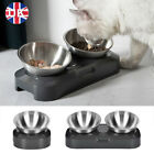 Non-slip Double Pet Bowls with Raised Stand Dog Cat Food Water Feeding Station ✅