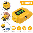 18V/20V Dual USB Power Source For Dewalt DCB090 Max XR Lithium Battery Adapter