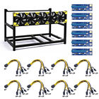 Veddha 6 GPU Mining Aluminum Housing Stackable Frame BTC ETH Cable Board Fan