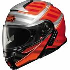 Shoei Neotec II Splicer Modular Helmet - Orange/Red/Silver, All Sizes