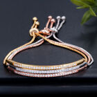 Внешний вид - Women Adjustable Bracelet Rhinestone Crystal Cuff Bangle Fashion Chain Jewelry