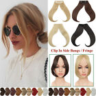 1PCS Hair Clip In Bangs Hair Extensions Thin Hairpiece Clip On Front Side Bang