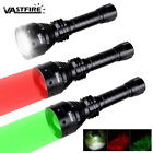 Red or Green or White LED Spotlight Zoom Predator Hunting Flashlight Vamint Hog