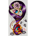 Violet by Dave Sanchez Mexican Sugar Skull Girl Rose Tattoo Canvas Art Print