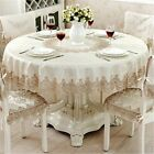 European Classical Round Tablecloth for Table Decor Jacquard Lace Elegant