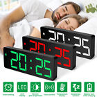 Digital LED Desk Alarm Clock Large Mirror Display USB Snooze Temperature Mode US