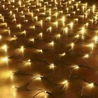 Solar Powered Net Mesh LED String Fairy Light Garden Outdoor Party Lamp Decor UK