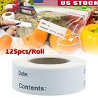 125pcs/Roll Kitchen Food Label Tag Date Self-adhesive Paper Sticker Food Tag US