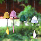 Japanese Bless Small Wind Chimes Cast Iron Lucky Temple Wind Bell Garden Patio