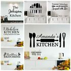 Diy Custom Name Kitchen Wall Stickers Home Decoration Accessories For Kitchen