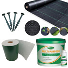 Artificial Grass Fixing Accessories - Adhesive, Tape, Weed Control Fabric, Pegs