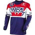 O'Neal Racing Element Warhawk Motocross Jersey - Blue/White/Red, All Sizes