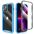 For iPhone 13 12 Pro Max 13 Mini Full Body Slim Case Cover Lens&Screen Protector