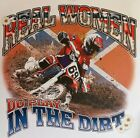 DIXIE REAL WOMEN PLAY IN THE DIRT BIKE REBEL REDNECK GIRLS SHIRT #157